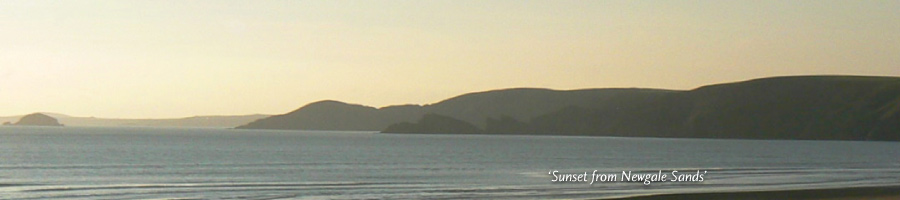 'Sunset from Newgale Sands'